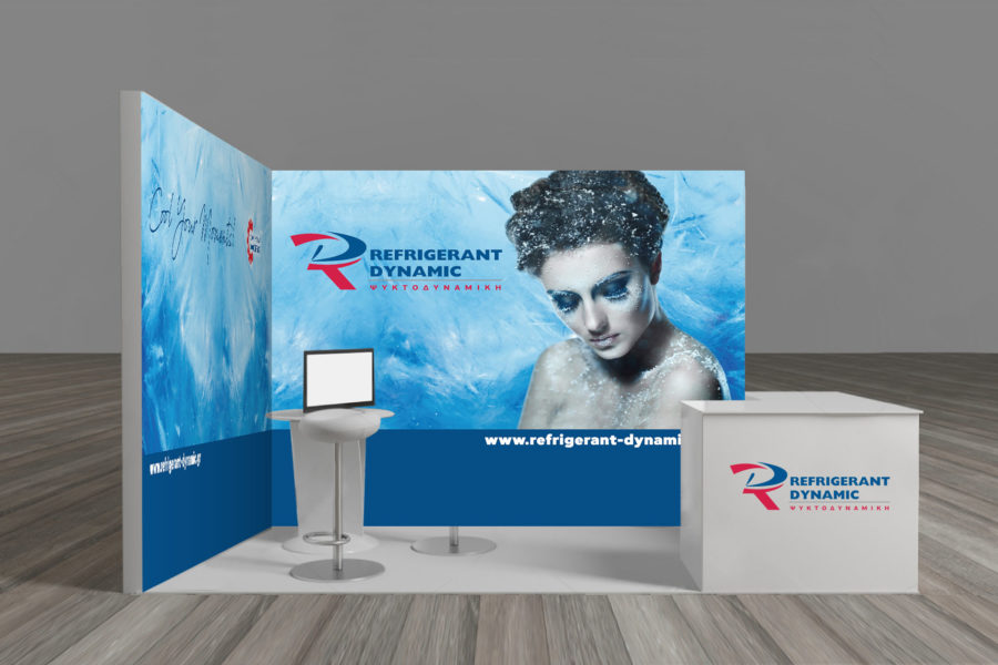 Refrigerant Dynamic Exhibition Stand