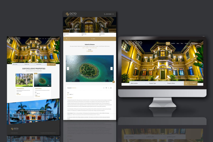 Web site – Octo Luxury Properties