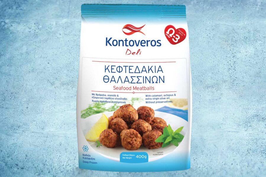 Packaging Design Kontoveros Deli Seafood Meatballs