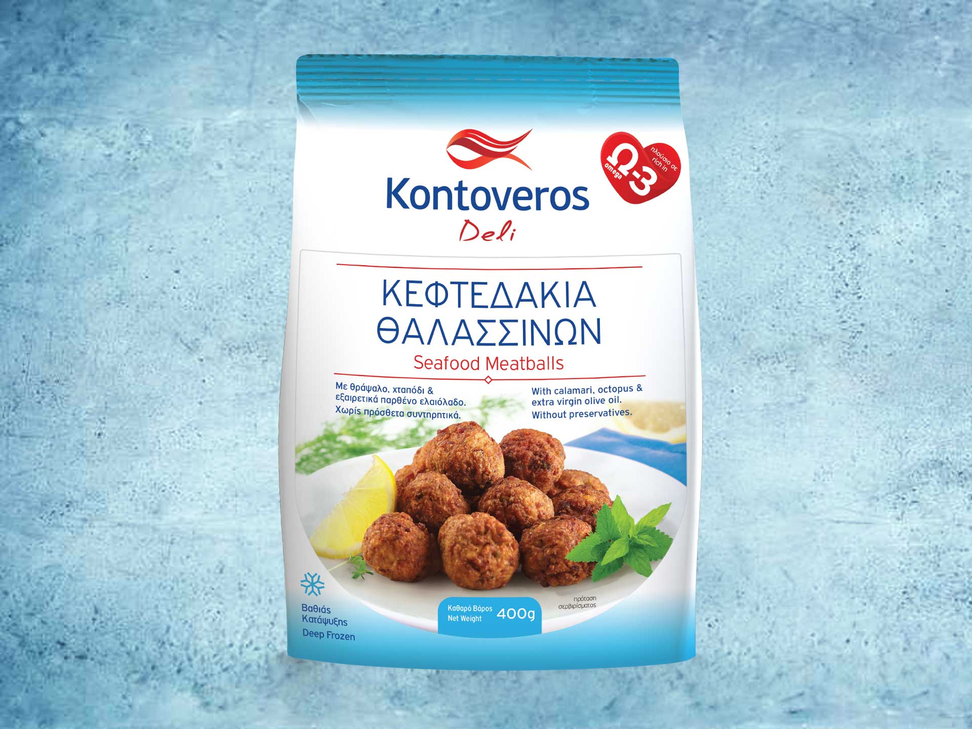Packaging Design Kontoveros Deli Seafood Meatballs
