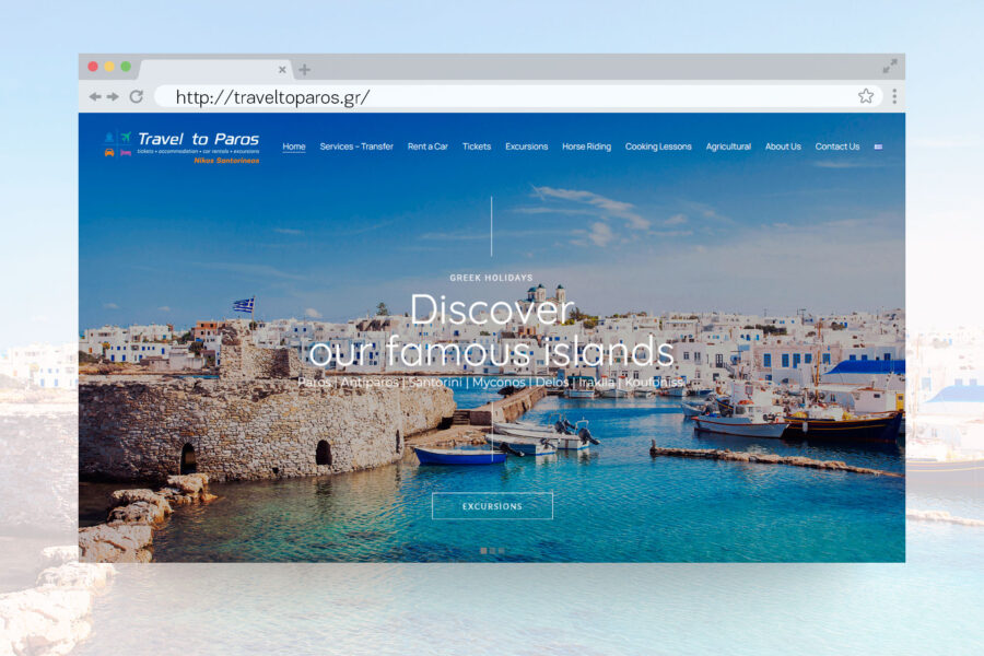 Website Travel to Paros