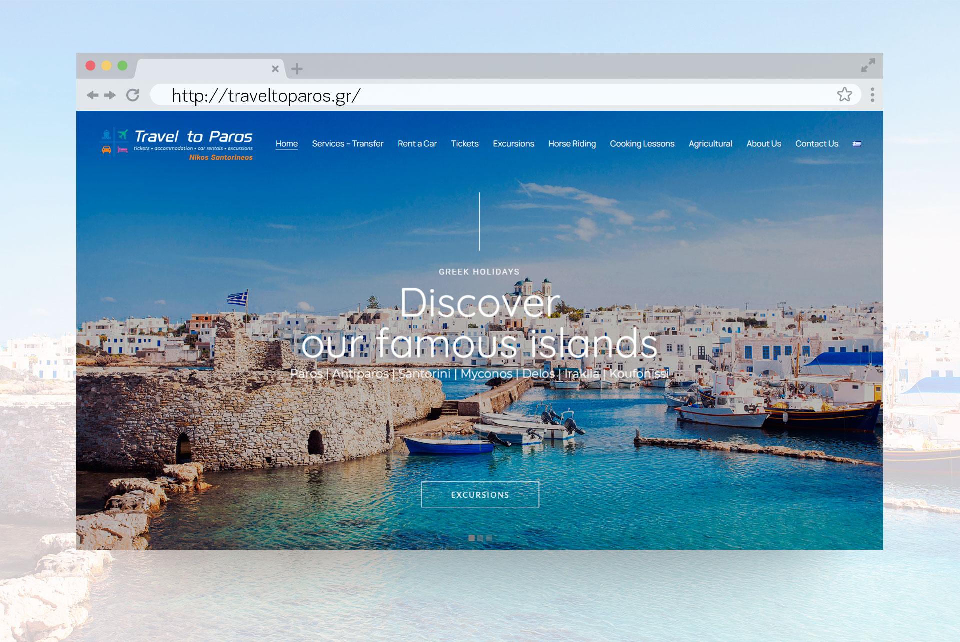 Website Travel to Paros